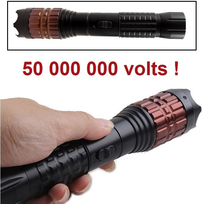 Taser shocker 50 000 000 volts ! POLICE LED + Tazer puissant