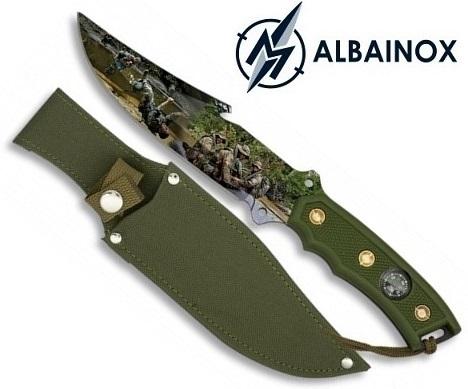 Poignard couteau 27,5cm militaire + boussole - ALBAINOX