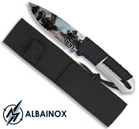 Couteau tactique militaire 21,5cm - Full tang tout acier