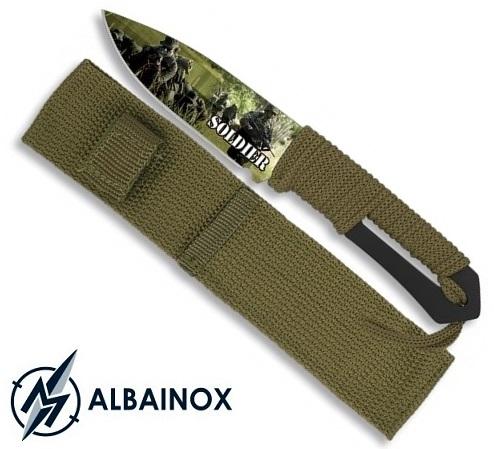 Couteau soldat militaire 21,5cm - Full tang tout acier