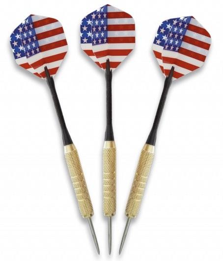Jeu 3 fléchettes USA - Fléchette pointe acier inox