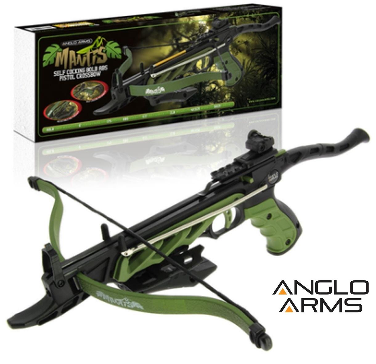 Arbalète pistolet 80 lbs précision + 3 flèches - ANGLO ARMS
