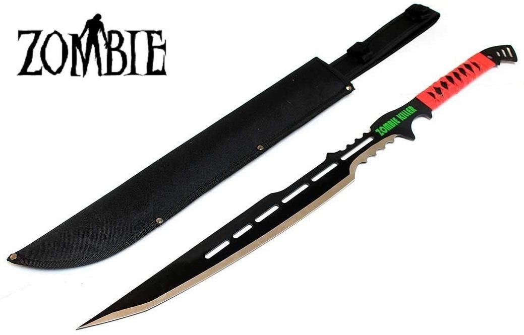 Epée katana Zombie 71cm full tang ZOMB-WAR machette