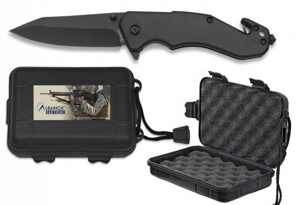 Couteau 20,5cm tactique coupe sangle + brise-glace