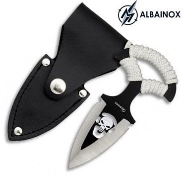 Dague push-dagger 12,7cm couteau de botte ALBAINOX