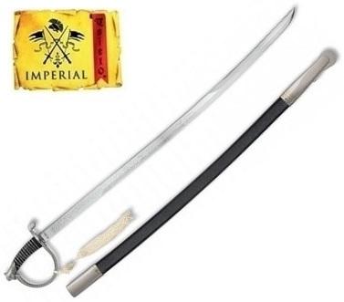 Epée sabre de cavalerie 86,5cm acier inox IMPERIAL