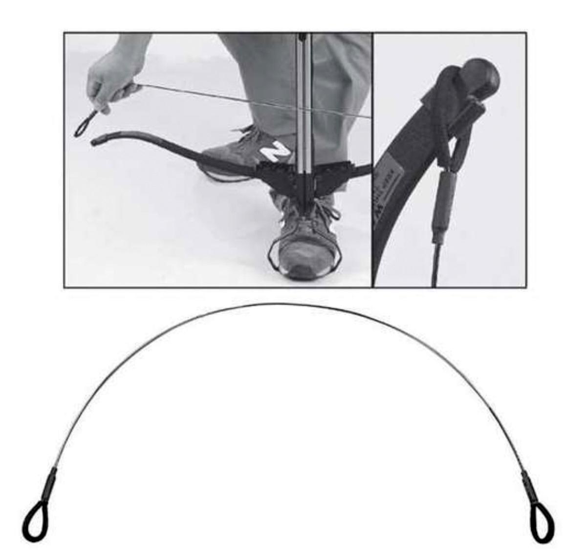 Fausse corde arbalète bandoir aide armement