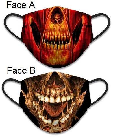 Masque de protection Squelette tissus lavable réversible