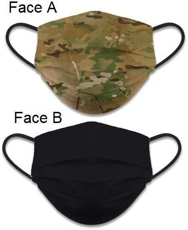 Masque de protection Camouflage tissus lavable réversible