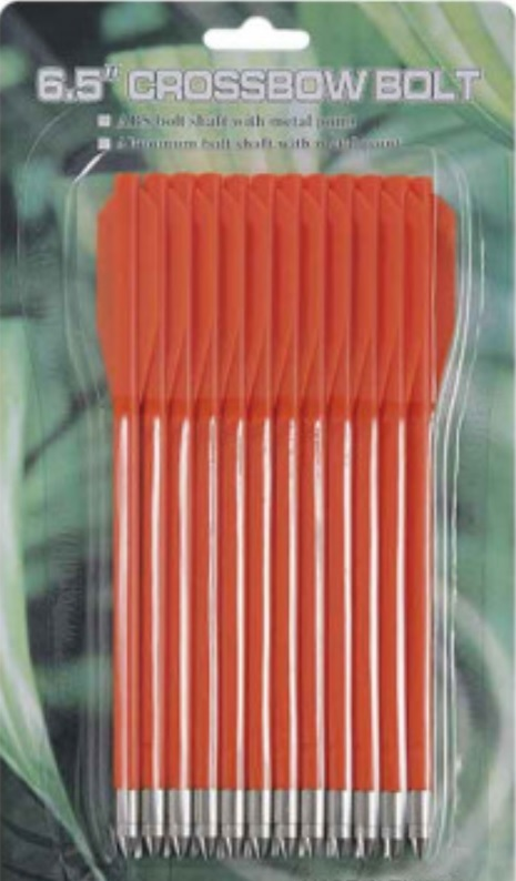 Lot 12 Flèches traits oranges pour arbalète
