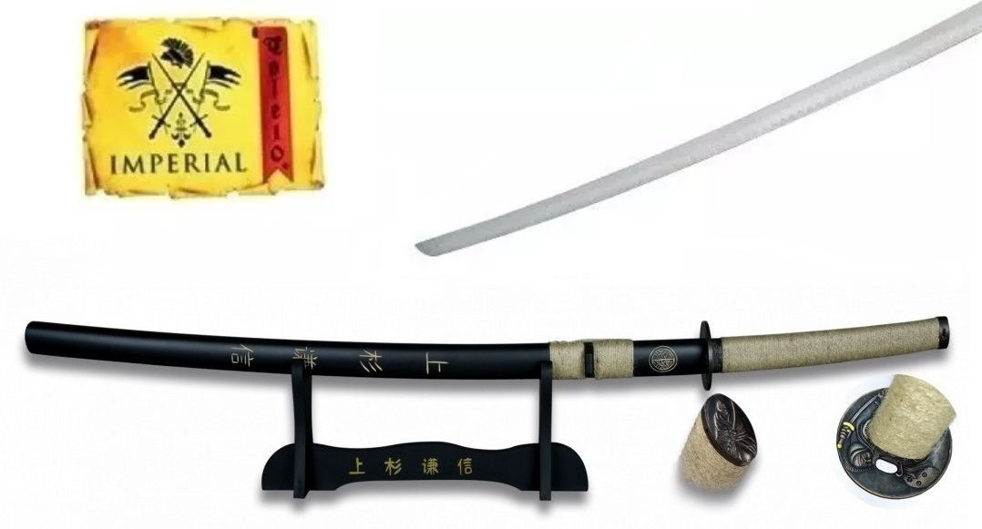 Katana tradition 94cm tranchant + socle déco - IMPERIAL