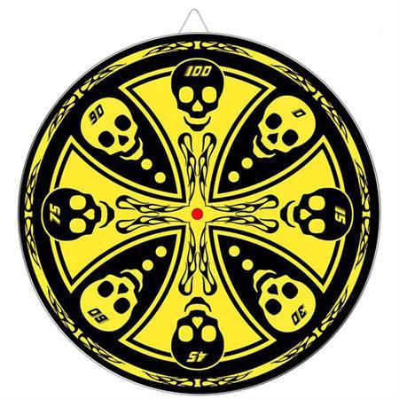 Maltese_Cross_Skull_Throwing_Knife_Target_Dart_Board