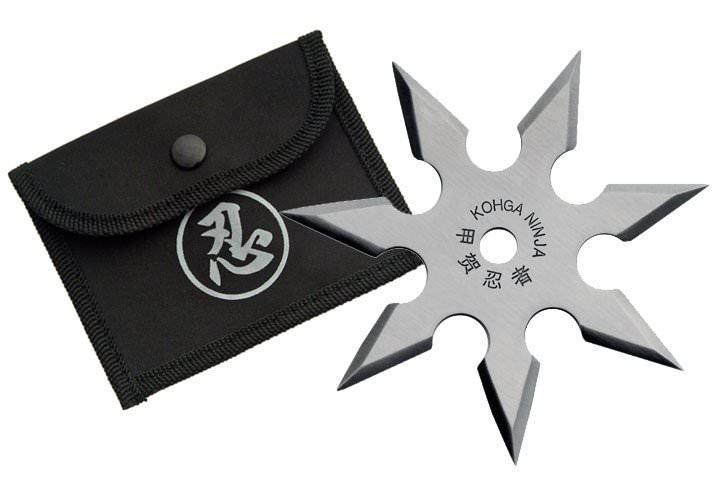 Etoile de jet 7 pics, shuriken lancer - acier inox