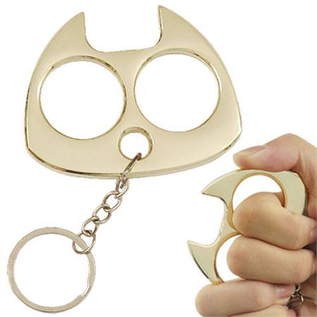 Fat_Cat_Keychain_Knuckle_Crusher_Gold