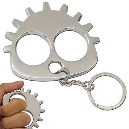 Gearhead_Slammer_Knuckle_Keychain_Chrome