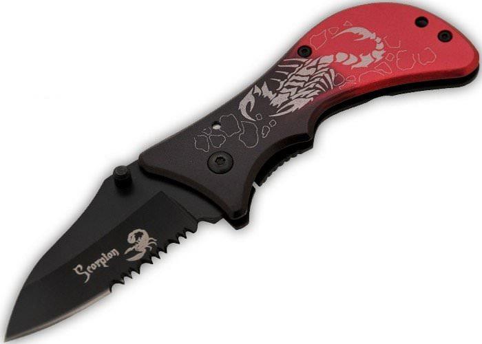 Couteau pliant Scorpion, manche métal