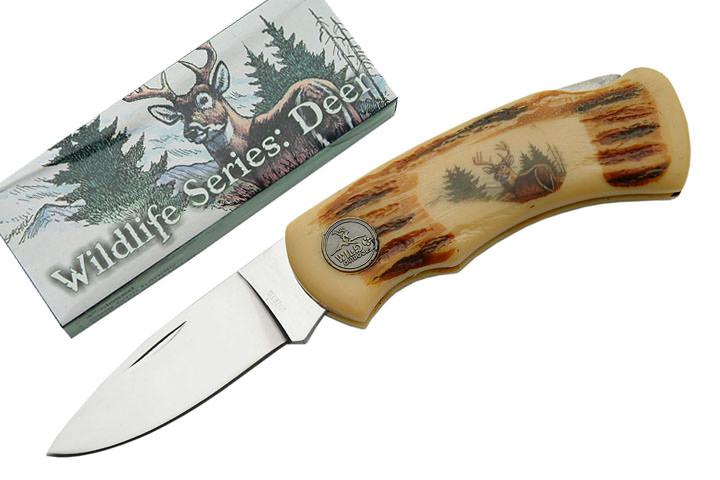 Couteau pliant Cerf, vie sauvage - DE0629