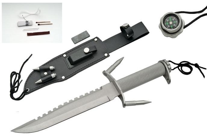 Poignard Marine + kit de survie, couteau - SL1160