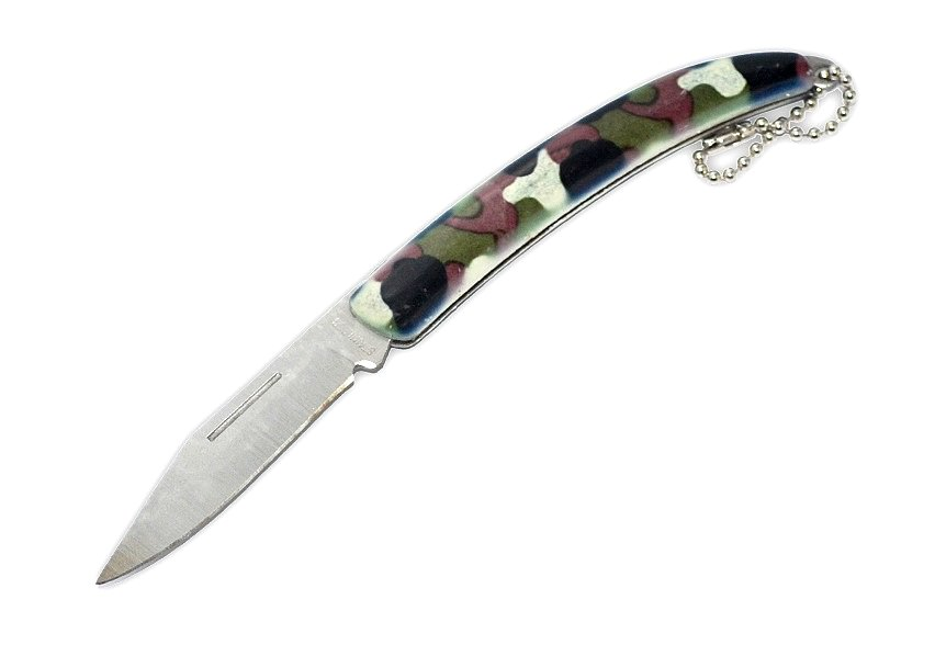 Couteau porte-clé camouflage - style militaire