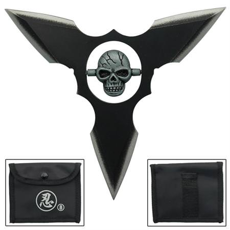 etoile ninja lancer shuriken d co t te de mort shuriken couteau azur. Black Bedroom Furniture Sets. Home Design Ideas