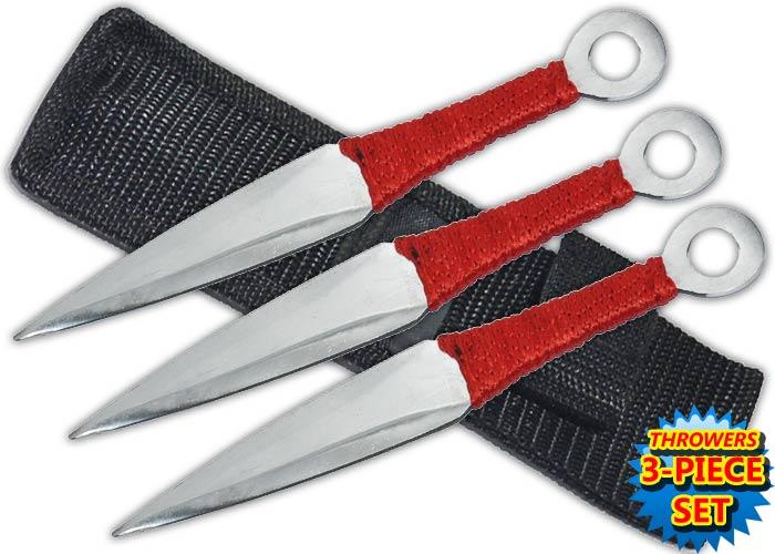 Pack 3 couteaux de lancer, couteau jet - TK3SLR