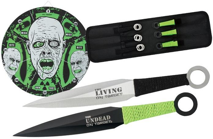 Pack couteaux de lancer + cible 37cm - Zombie XL1530