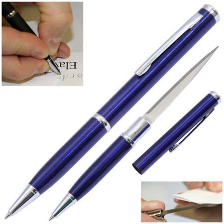 Ouvre lettre avec lame stylo - Bleu BL097