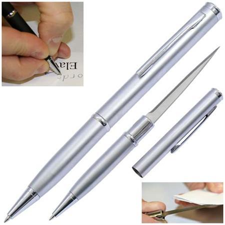 Ouvre lettre avec lame stylo - crayon gris