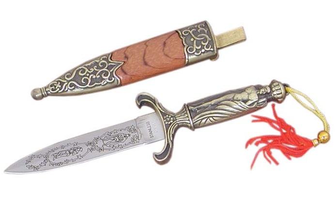 Dague de Mongolie 18cm + fourreau - D0176
