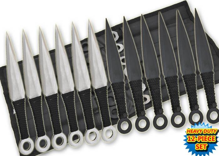 12 couteaux de lancer Naruto, couteau kunaï - TK12BS