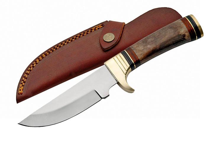 Poignard 24,5cm en os et laiton - couteau BR005