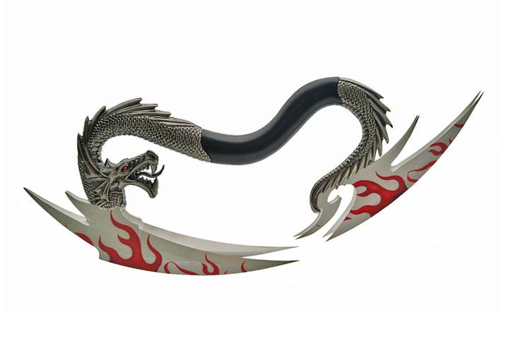 Arme Dragon 4 lames pour décoration collection - H1915