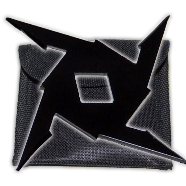 Etoile de jet + étui, shuriken - noir TK17
