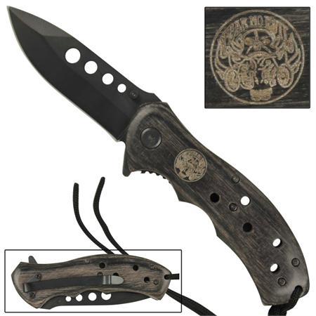 Couteau Fear No Evil manche bois - WG944