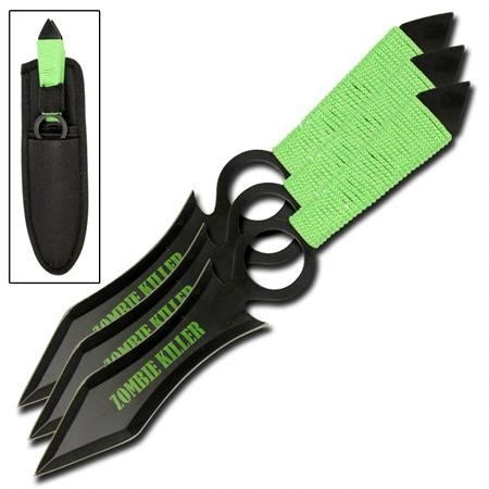3 couteaux Zombie Killer, couteau lancer - CH0111
