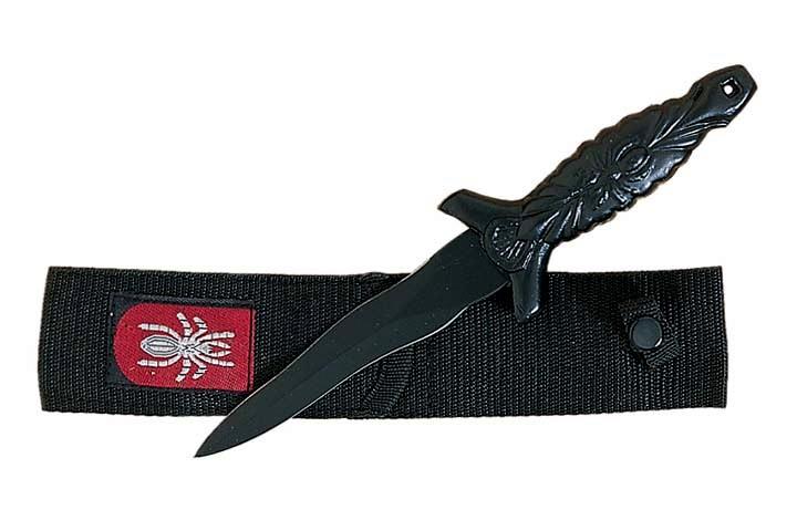 Mini dague 14cm Spider + étui - D3104