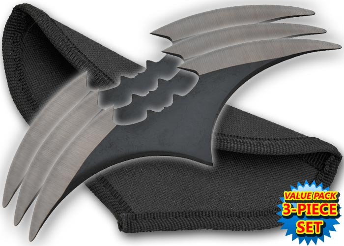 3 Armes Bat Boomerang Batman, shuriken - TK653BK