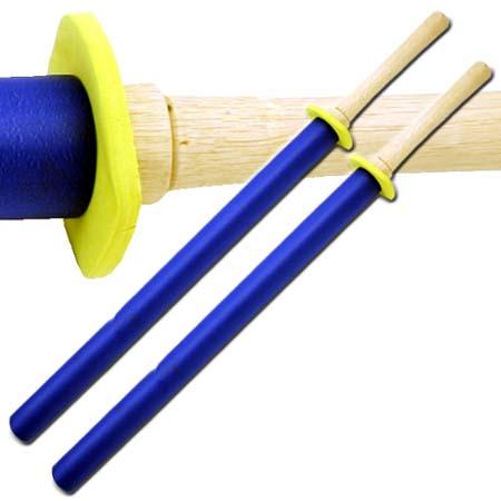 Pack 2 Bokkens entrainement 89cm katana mousse - Bleu