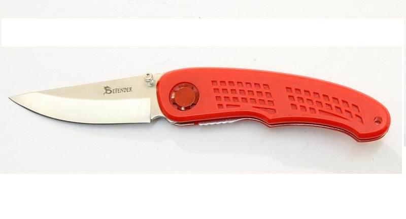Couteau pliant de poche rouge