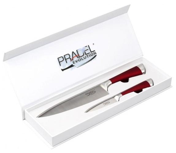 Coffret Pradel Evolution 2 couteaux - rouge C8213
