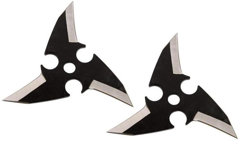 Pack 2 étoiles Dragon Eye, shuriken - noir