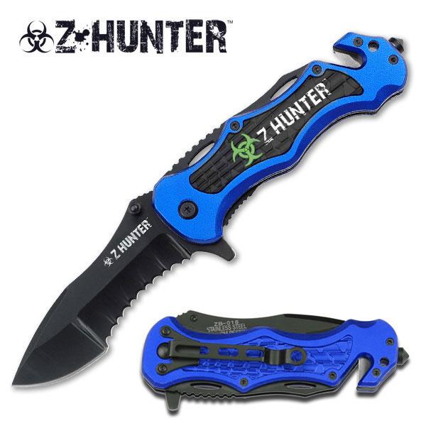 Couteau Zombie Hunter 21cm design - ZB018