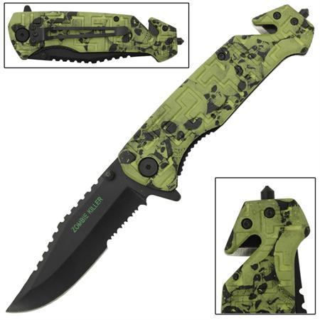 Couteau Zombie 21cm pliant - CH0103