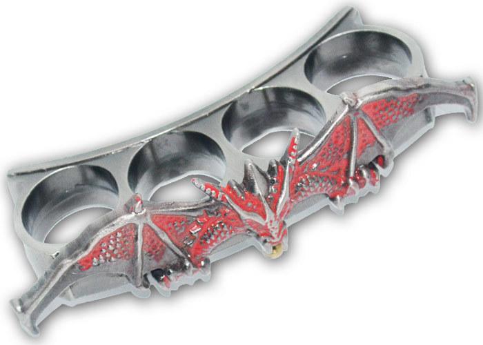 Poing américain Dragon - gris métal