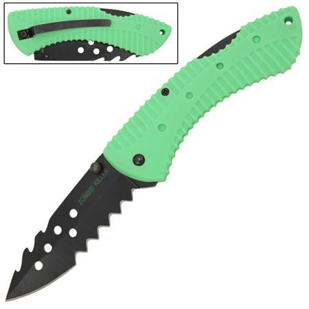 Couteau Zombie 19,5cm antidérapant - CH0106