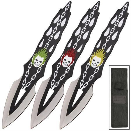 3 Couteaux lancer Joker - Couteau de jet WG123
