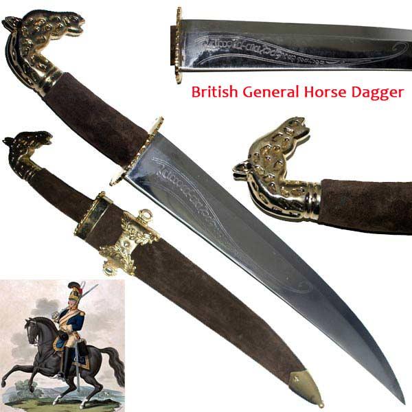 Dague épée 57cm réplique Général britannique - M104
