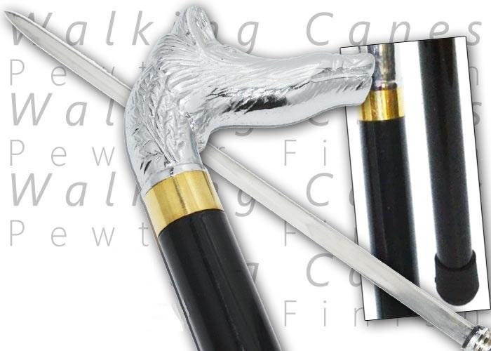 Canne épée 90cm sanglier de marche - métal