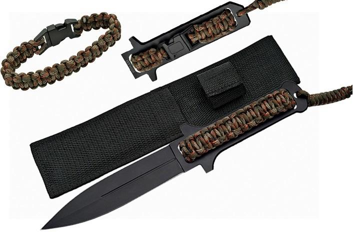Poignard dague 26,5cm + bracelet paracorde - P1176
