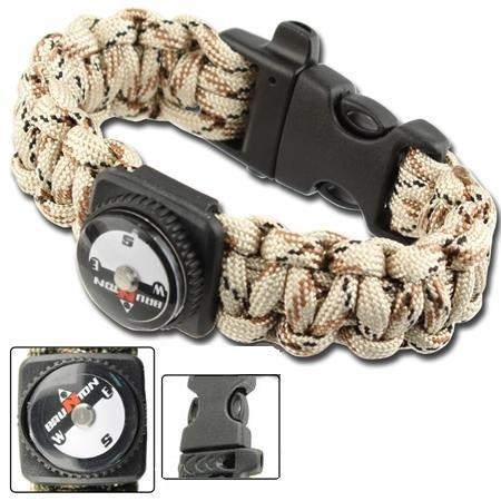 Bracelet paracorde survie + boussole, sifflet - AZ906